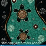 aboriginal-dot-art-vector-painting-turtle-131871039
